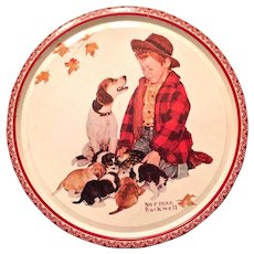 Norman Rockwell Round Biscuit Tin