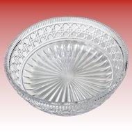 Lead Crystal Bowl 8 1/3 inches by AMERICAN CUT West Germany