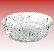 Vintage Crystal Bowl 9 1/3 inches