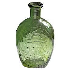 Vintage Decorative Collectible Green Bottle 1970s