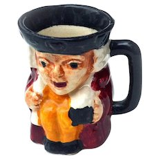 "Genuine Staffordshire Shorter & Son 2 1/4"" Toby Mini Mug Made in England"