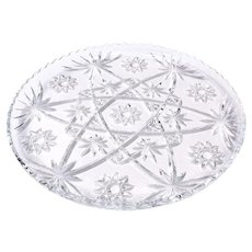 Anchor Hocking Early American Prescut EAPC Pressed Glass 13 1/2 inch Server Platter