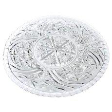 Thousand Lines Torte Platter aka Stars & Bars 12.75 inch Server Platter Tray