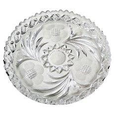 Vintage Plate Dish w/ Cupped Raised Sides Sawtooth Rim