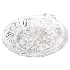 Indiana Glass Killarney Clear Divided Relish / Candy Dish with Handle