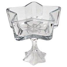 Vintage Star Shape Pedestal Dish