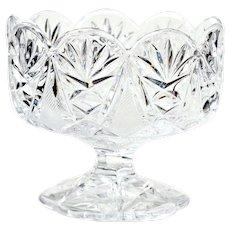 Vintage Pressed Glass Pedestal Dish Bowl