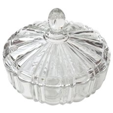 Old Cafe Covered Candy Dish by Hocking Glass Co