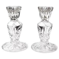 Crystal Clear Glass Candle Holders
