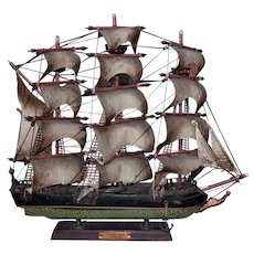 Wooden Model Whaling Ship Clipper 1846