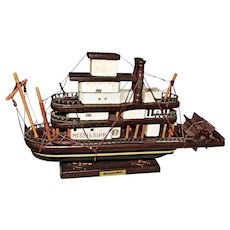 Wooden Model Mississippi River Boat