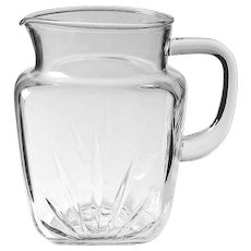 Mid Century Federal Glass STAR Pitcher