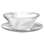 Federal Glass DIANA CLEAR Bread Butter Plate & Cereal Bowl