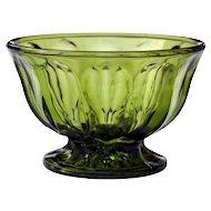 Anchor Hocking Fairfield Green Glass Pedestal Bowl