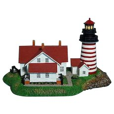 West Quoddy Head Lighthouse Danbury Mint Replica