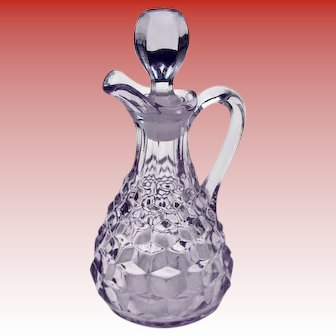 Vintage Pale Lavender Glass Cruet