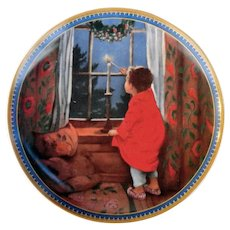 Knowles Limited Edition CHRISTMAS Plate Vintage 1986