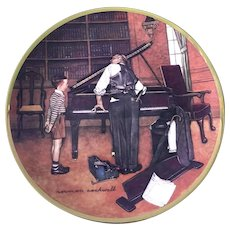 Rockwell Collector Plate The Piano Tuner