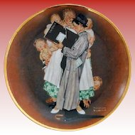 Norman Rockwell Collectors Plate The Census Taker 1984