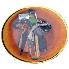 Norman Rockwell Collector's Plate The Hatcheck Girl 1984