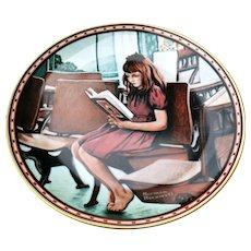 Knowles Collectors Plate Norman Rockwell 'Worlds Away' 1988
