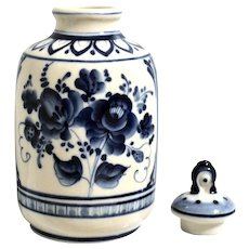 Gzhel Honey Jar w/ Lid Blue & White Handcrafted Russian Porcelain
