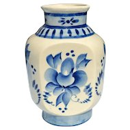 Gzhel Vase Blue & White Handcrafted Porcelain from Russia