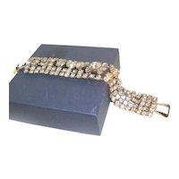 1950s Glamorous Five Row Rhinestone Bracelet