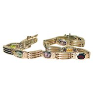 Sterling Silver Bracelet Natural Gemstones