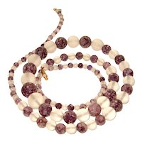 Amethyst Quartz Frosted Rock Crystal Necklace