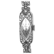 Art Deco Ladies Wristwatch 17 Jewels Ledo Polcini