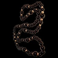Black Onyx Necklace 14K GF Beads 32 Inches