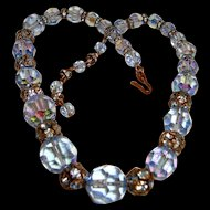 Sensational Blue Crystal Choker Necklace