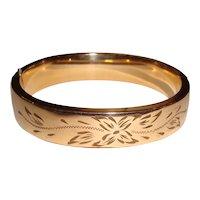 Art Deco Gold Filled Bangle Bracelet by Craftmere
