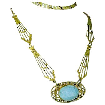 Blue Antique Necklace Celestial Theme Wedding