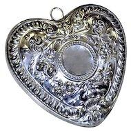Gorham Sterling Christmas Ornament Puffy Heart Design