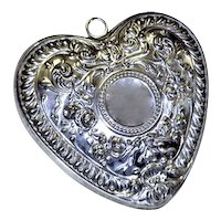 Gorham Sterling Puffy Heart Ornament Wedding Christmas