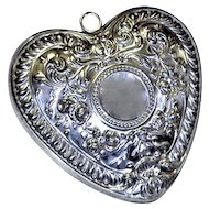 Gorham Sterling Christmas Ornament Puffy Heart Wedding Gift