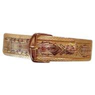 Victorian Buckle Bracelet Black Enamel