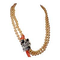 Vintage Kyoto Cultura Pearl Necklace Double Strand