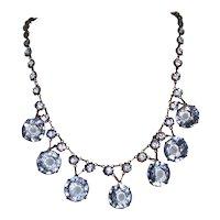 Art Deco Necklace Open Back Crystals Wedding
