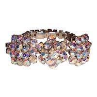 Vintage Rhinestone Bracelet Bow Tie Wedding