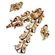 1950 Bracelet Earrings Set Rhinestones Wedding