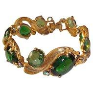 Schiaparelli Bracelet Green Stones