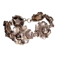 Antique Sterling Silver Bracelet Roses Wedding
