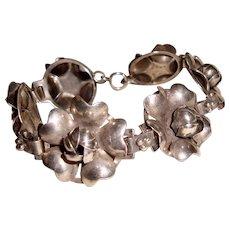 Antique Sterling Silver Bracelet Roses Wedding