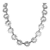 Art Deco Sterling Paste Necklace Wedding