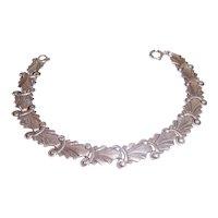 Antique Sterling Bracelet Fancy Abstract links