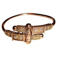 Victorian Gold Filled Clamper Bangle Bracelet