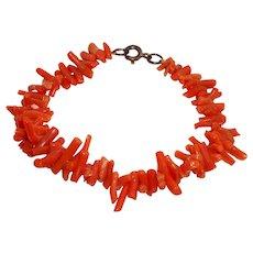 Victorian Branch Salmon Coral Bracelet